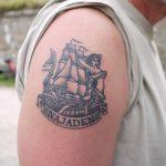 Flott tatovering, utført på Minemagasinet under TSRF 2014. Foto Christine Lande