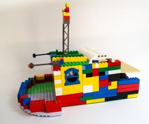 Danskebåten laget av Dina Hassel