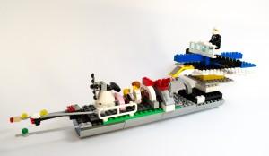 Piratskip og redningsskip laget av Noah