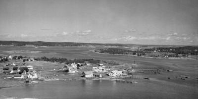 Flyfoto fra Widerøe. Avbildet er Herføl på Hvaler