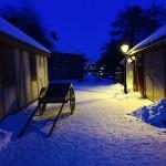Kveldsstemning i Anno-landsbyen. Foto: Lillian Thorbjørnsen Greni