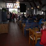 Barnas Dag 2010. Kø til Kafe Galeien, med sultne små og store. Foto Christine Lande