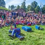 Brødrene Konk gleder barna på Barnas Isegran 2016 (C) Fredrikstad 450 år. Foto Trine Sirnes