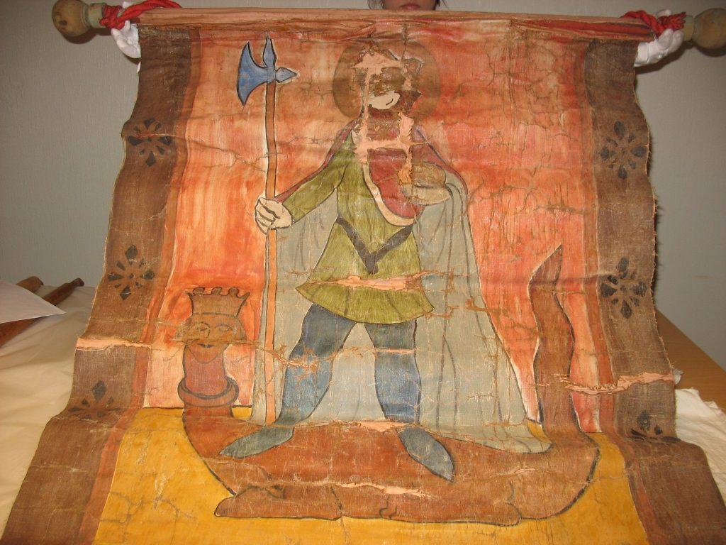 Olavsfane BrM.11591. Foto: Mona Beate B. Vattekar