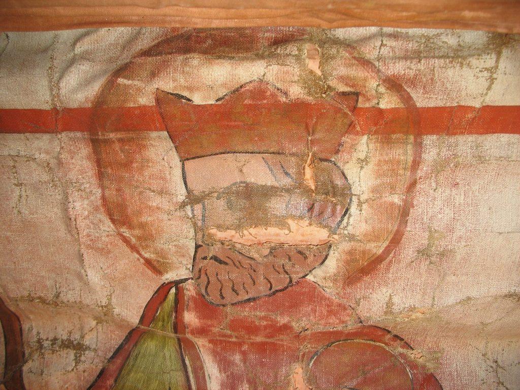 Olav den hellige – detaljfoto fra BrM.11592. Foto: Mona Beate B. Vattekar