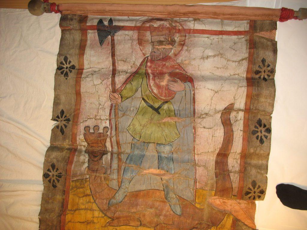 Olavsfane BrM.11592. Foto: Mona Beate B. Vattekar