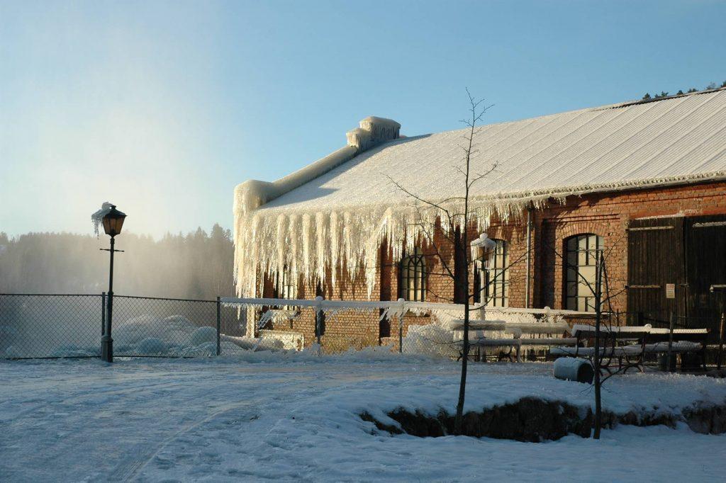 Vinter på Ørje Brug, Foto: J. Fjeld