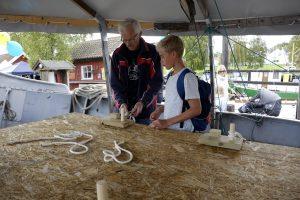 Foreningen M/S Hvaler hadde mange spennende aktiviteter. Foto Gaute Jacobsen