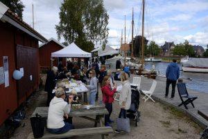Mange fant veien til M/S Hvaler og museumshavna. Foto Gaute Jacobsen