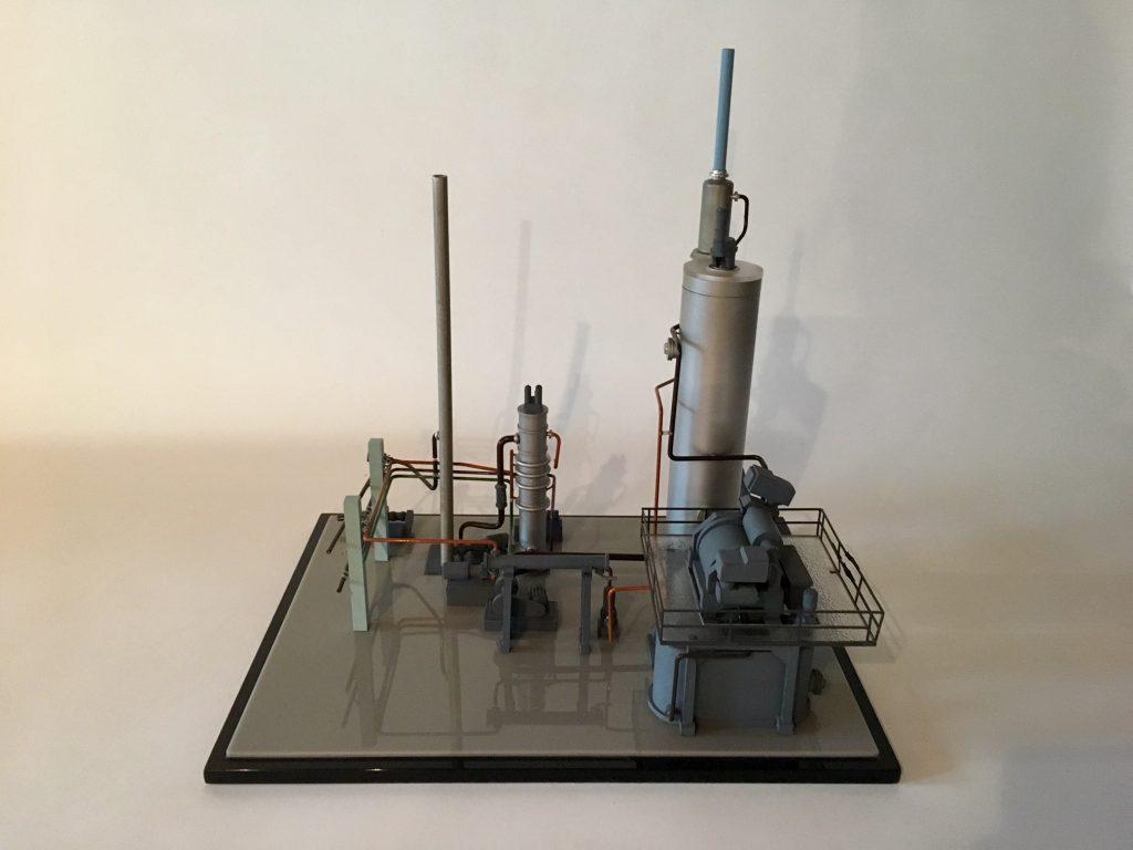 Modell av Oksygenblekeriet. Foto: Bjørg Holsvik / Moss by- og industrimuseum