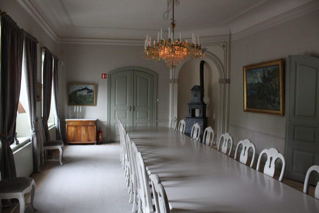 Den hvite salong vil beholde sitt nåværende preg.