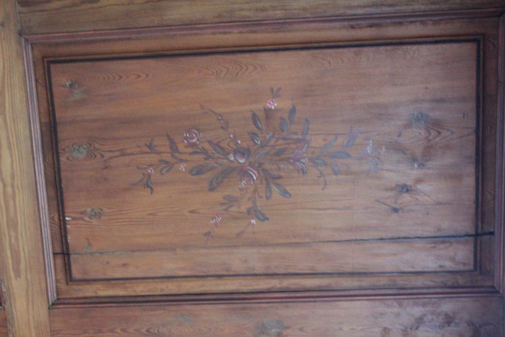 Skotteværelset i første etasje er rom med mange kunsthistoriske spennende detaljer.