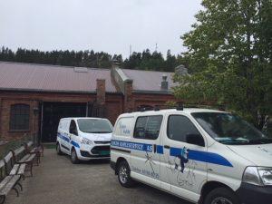 Askim kjøleservice på redningsaksjon på Ørje brug (Foto: D. Nævdal)