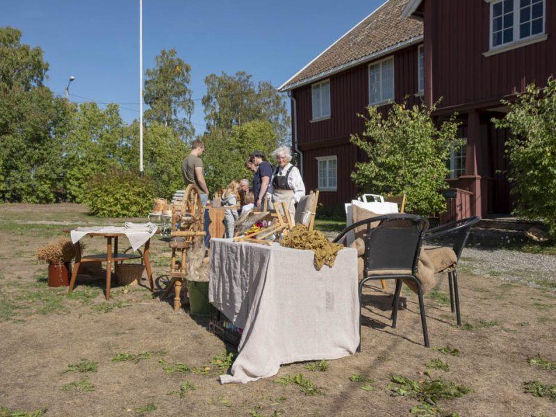 Tradisjonelt håndverk ble demonstrert under årets barn og dyr