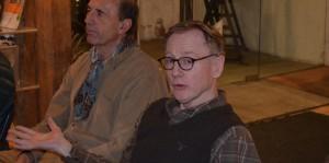 Peter Helly-Hansen, sønn av tidligere direktør Leiv Helly-Hansen delte minner fra markedsføringen av den populære Kelly Coaten. Foto: Trine Gjøsund / Moss by- og industrimuseum.