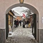 Porten inn til Anno-landsbyen. Foto Espen Nordenhaug