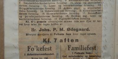Bilde av avisutklipp fra Fagforeningsarkivene