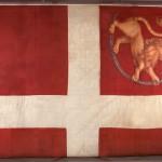 Fredrikstens festnings flagg fra 1814. Foto: Trollbu