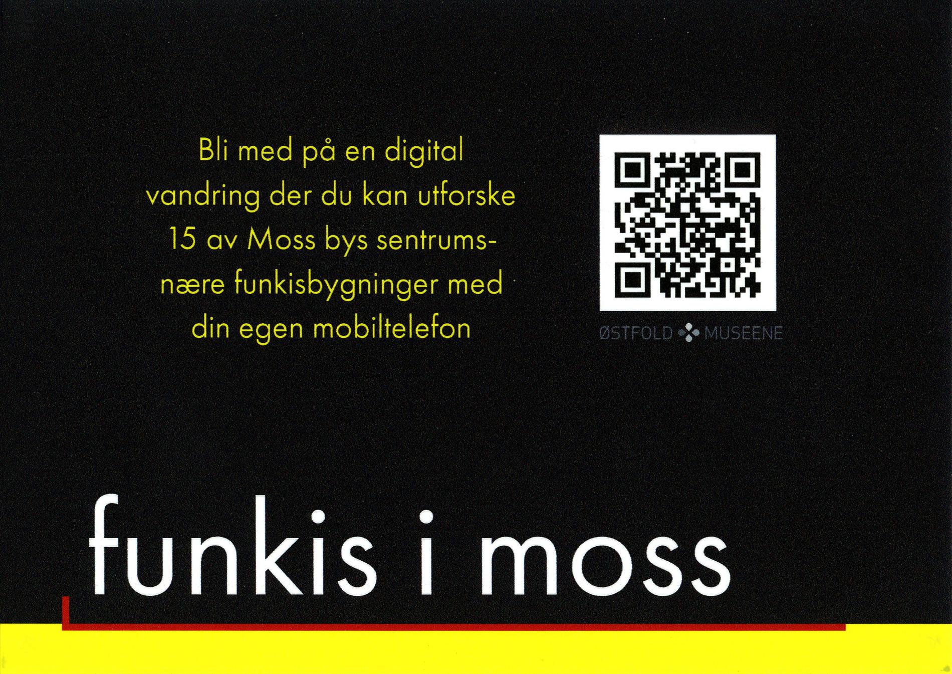 Informasjonsskilt om funkisvandring i Moss