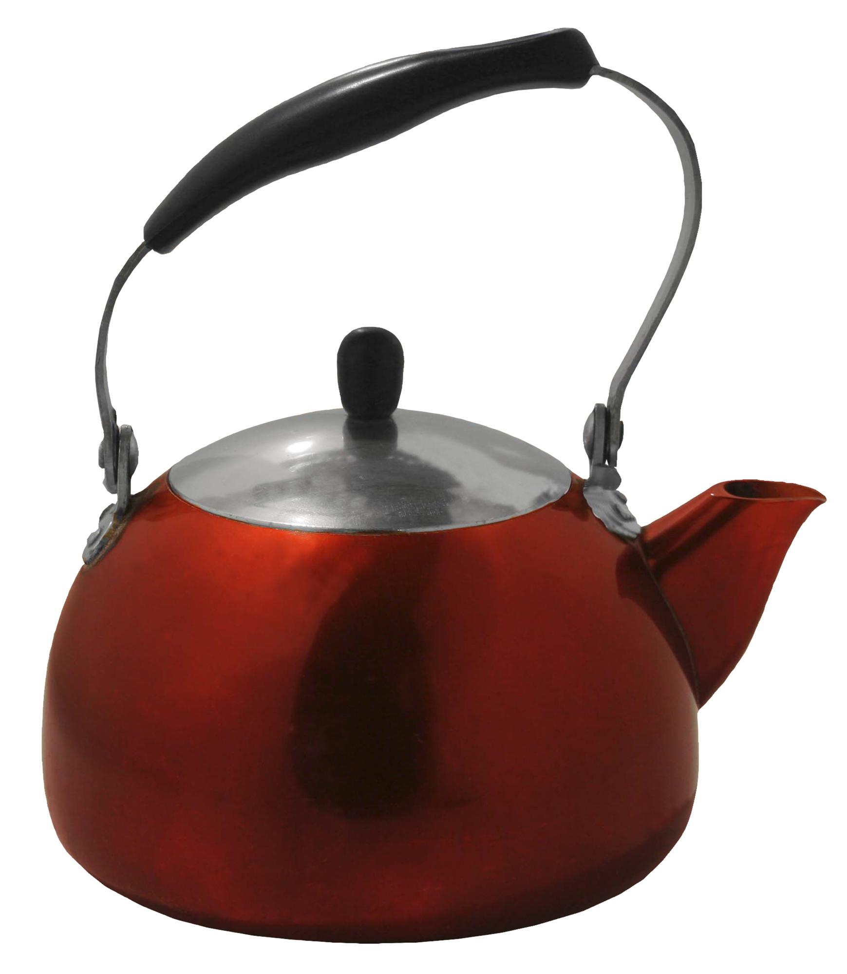 Rød kaffekjele