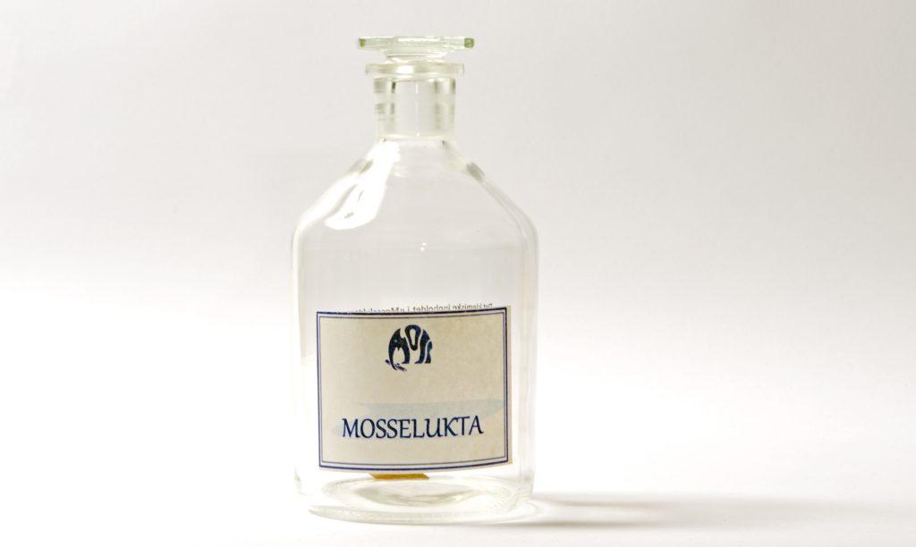 Mosselukt på flaske. Foto: Trine Gjøsund / Moss by- og industrimuseum