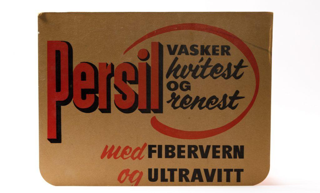 Reklameplakat fra Persil. Foto: Trine Gjøsund / Moss by- og industrimuseum