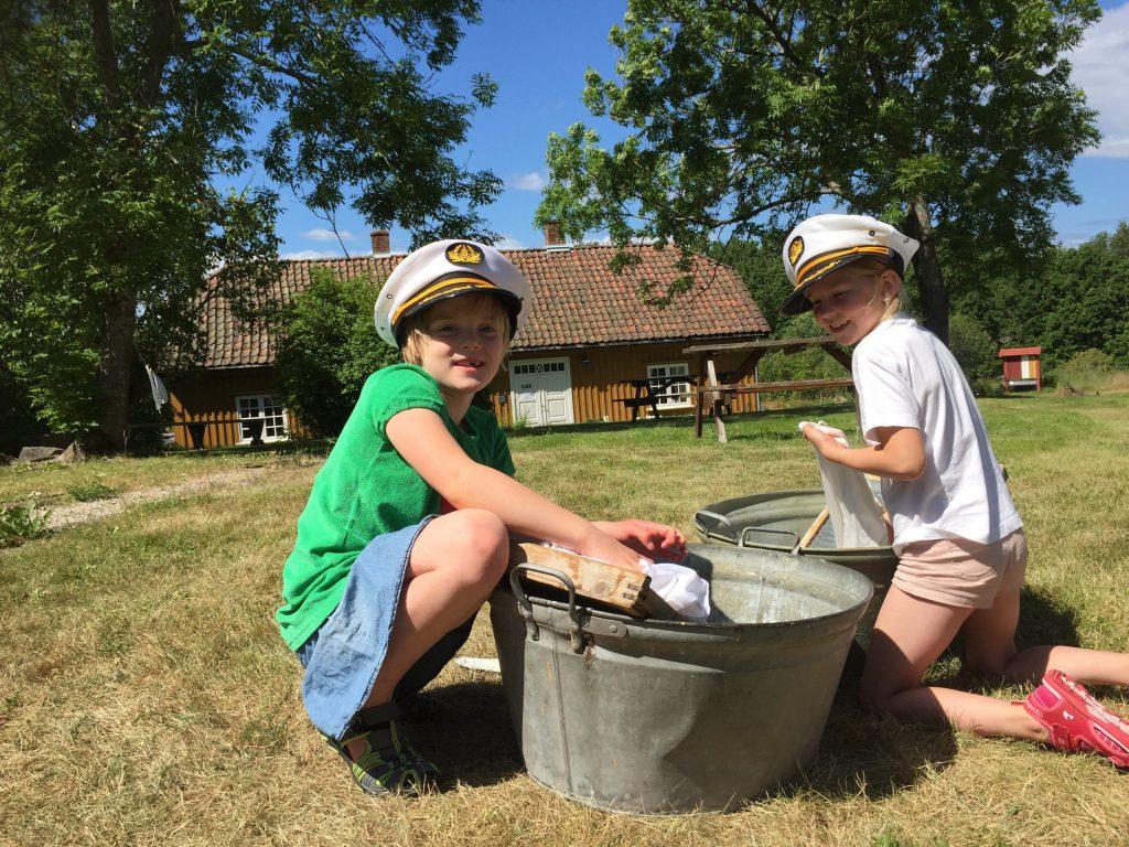 Tøyvask på museet. Foto: Jenni Helene Caspersen.